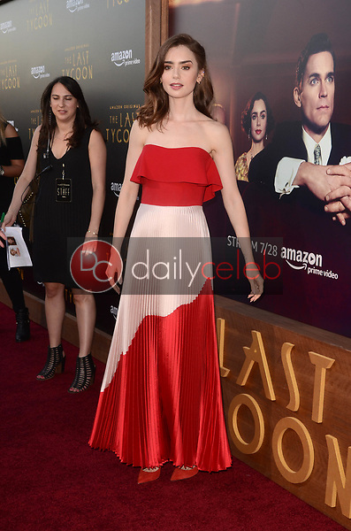 """Lily Collins<br /> at """"The Last Tycoon"""" Red Carpet Premiere Screening, Harmony Gold Theater, Los Angeles, CA 07-27-17<br /> David Edwards/DailyCeleb.com 818-249-4998"""