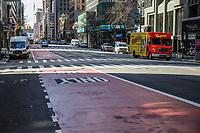 NOVA YORK, EUA 24.03.2020 - CORONAVIRUS-EUA - Ruas vazias Manhattan durante a Pandemia de Coronavirus COVID-19 em Nova York nos Estados Unidos. (Foto: Vanessa Carvalho/Brazil Photo Press)