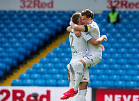 Leeds United's Ezgjan Alioski celebrates scoring his side's second goal <br /> <br /> Photographer Alex Dodd/CameraSport<br /> <br /> The EFL Sky Bet Championship - Leeds United v Fulham - Wednesday 24th June 2020 - Elland Road - Leeds<br /> <br /> World Copyright © 2020 CameraSport. All rights reserved. 43 Linden Ave. Countesthorpe. Leicester. England. LE8 5PG - Tel: +44 (0) 116 277 4147 - admin@camerasport.com - www.camerasport.com<br /> <br /> Photographer Alex Dodd/CameraSport<br /> <br /> The Premier League - Newcastle United v Aston Villa - Wednesday 24th June 2020 - St James' Park - Newcastle <br /> <br /> World Copyright © 2020 CameraSport. All rights reserved. 43 Linden Ave. Countesthorpe. Leicester. England. LE8 5PG - Tel: +44 (0) 116 277 4147 - admin@camerasport.com - www.camerasport.com