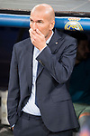 Real Madrid's coach Zinedine Zidane during UEFA Champions League match between Real Madrid and Apoel at Santiago Bernabeu Stadium in Madrid, Spain September 13, 2017. (ALTERPHOTOS/Borja B.Hojas)
