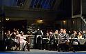 "London, UK. 24.11.2018. English National Opera present their fourth revival of Jonathan Miller's production of Puccini's ""La Boheme"", in which Natalya Romaniw makes her ENO debut. Cast is: Natalya Romaniw (Mimi), Jonathan Tetelman (Rodolfo), Nicholas Lester (Marcello), Simon Butteriss (Benoit/Alcindoro), Nadine Benjamin (Musetta), David Soar (Colline), Bozidar Smiljanic (Schaunard). Picture shows: Nadine Benjamin (Musetta), David Soar (colline), Nicholas Lester (Marcello), Bozidar Smiljanic (Schaunard), Jonathan Tetelman (Rodolfo), Natalya Romaniw (Mimi). Photograph © Jane Hobson."