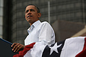 President Barack Obama speaks to an enthusiastic crowd during a Labor Day event in the shadow of the GM Renaissance Center in Detroit Mich., Monday, Sept. 5, 2011<br /> SUSAN TUSA\Detroit Free Press