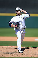 Detroit Tigers pitcher Phil Coke (40) during a spring training game against the St. Louis Cardinals on March 3, 2014 at Joker Marchant Stadium in Lakeland, Florida.  Detroit defeated St. Louis 8-5.  (Mike Janes/Four Seam Images)