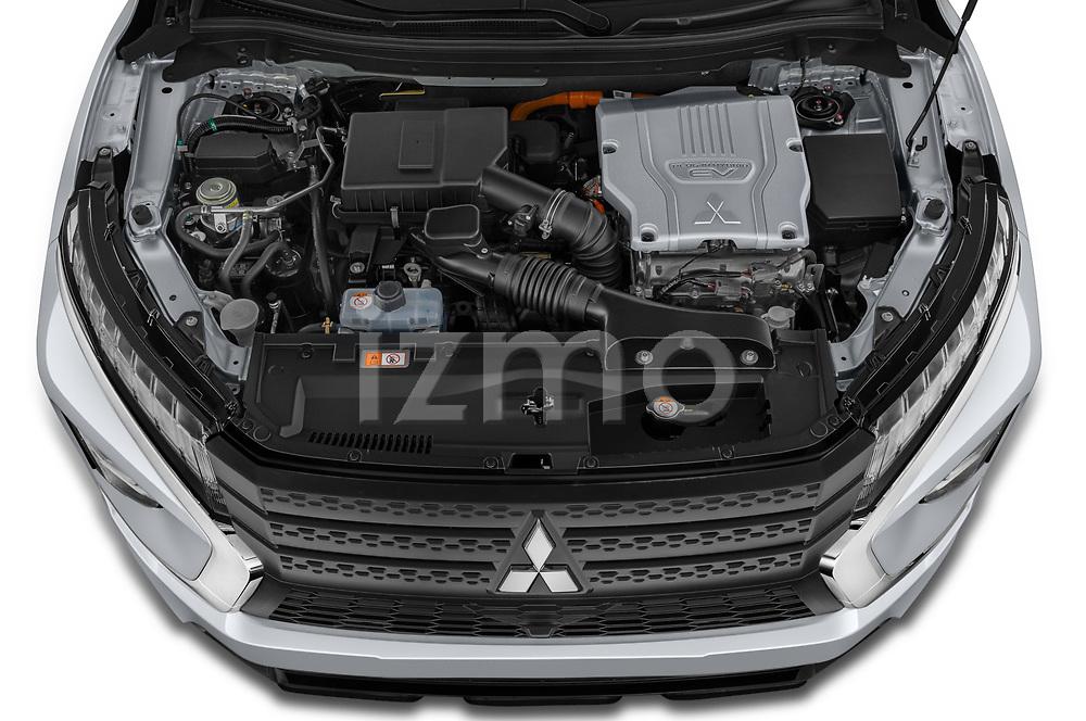 Car Stock 2021 Mitsubishi Eclipse-Cross-PHEV Invite 5 Door SUV Engine  high angle detail view