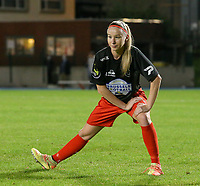 Woluwe's Magali Dinon pictured during warm up before a female soccer game between FC Femina WS Woluwe and Standard Femina de Liege on the fourth match day of the 2020 - 2021 season of Belgian Womens Super League , Friday 8th of October 2020  in Liege , Belgium . PHOTO SPORTPIX.BE | SPP | SEVIL OKTEM
