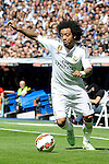 Real Madrid´s Marcelo Vieira during 2014-15 La Liga match between Real Madrid and Eibar at Santiago Bernabeu stadium in Madrid, Spain. April 11, 2015. (ALTERPHOTOS/Luis Fernandez)