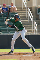Rafael Rodriguez (14) of the Augusta GreenJackets at bat against the Kannapolis Intimidators at CMC-NorthEast Stadium on August 3, 2014 in Kannapolis, North Carolina.  The Intimidators defeated the GreenJackets 10-5. (Brian Westerholt/Four Seam Images)
