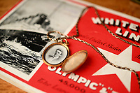 BNPS.co.uk (01202 558833)<br /> Pic: ZacharyCulpin/BNPS<br /> <br /> Pictured: The locket contains a picture of Wallace Hartley. <br /> <br /> A gold locket the tragic violinist on the Titanic gave to his sweetheart before he boarded the ill-fated liner has emerged for sale for £20,000.<br /> <br /> Maria Robinson kept hold of the treasured item that contained a photograph of fiance Wallace Hartley.