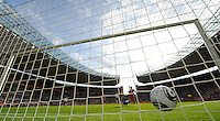 Celia Okoyino da Mbabi of Germany (background center) scores the second goal during the FIFA Women's World Cup at the FIFA Stadium in Berlin, Germany on June 26th, 2011.