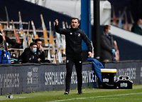 3rd October 2020; Kenilworth Road, Luton, Bedfordshire, England; English Football League Championship Football, Luton Town versus Wycombe Wanderers; Luton Town Manager Nathan Jones shouting from the touchline