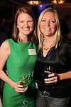 Cristina Aalders and Amanda Olson at the Technip reception at the Hotel Derek Tuesday May 1,2012. (Dave Rossman Photo)