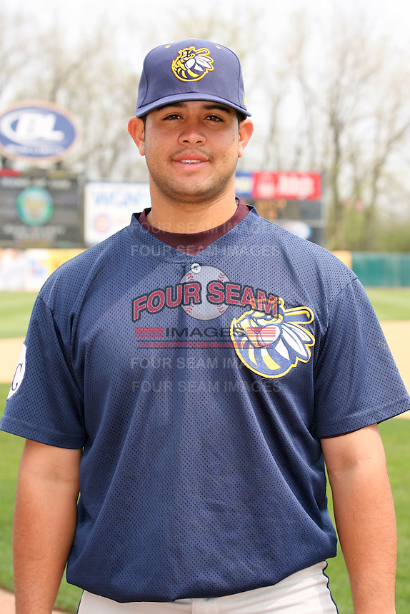 April 11 2010: Juan Graterol of the Burlington Bees. The Bees are the Low A affiliate of the Kansas City Royals. Photo by: Chris Proctor/Four Seam Images