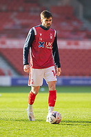 9th January 2021; City Ground, Nottinghamshire, Midlands, England; English FA Cup Football, Nottingham Forest versus Cardiff City; Carl Jenkinson of Nottingham Forest during the warm up