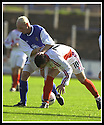 14/9/02       Copyright Pic : James Stewart                     .File Name : stewart-qots v inverness 06.ROBBIE HENDERSON PUSHES RICHARD HART OFF THE BALL....James Stewart Photo Agency, 19 Carronlea Drive, Falkirk. FK2 8DN      Vat Reg No. 607 6932 25.Office : +44 (0)1324 570906     .Mobile : + 44 (0)7721 416997.Fax     :  +44 (0)1324 570906.E-mail : jim@jspa.co.uk.If you require further information then contact Jim Stewart on any of the numbers above.........