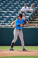 Akron RubberDucks Mitch Longo (30) at bat during an Eastern League game against the Bowie Baysox on May 30, 2019 at Prince George's Stadium in Bowie, Maryland.  Akron defeated Bowie 9-5.  (Mike Janes/Four Seam Images)