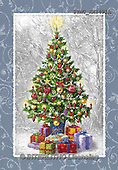 Marcello, CHRISTMAS SYMBOLS, WEIHNACHTEN SYMBOLE, NAVIDAD SÍMBOLOS, paintings+++++,ITMCXM1491A,#XX# ,Christmas tree,