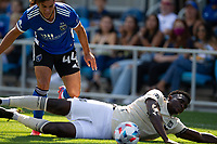 SAN JOSE, CA - AUGUST 8: Cade Cowell #44 during a game between Los Angeles FC and San Jose Earthquakes at PayPal Stadium on August 8, 2021 in San Jose, California.