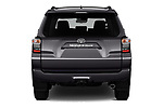 Straight rear view of 2020 Toyota 4-Runner SR5 5 Door SUV Rear View  stock images