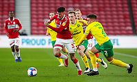Middlesbrough's Marvin Johnson goes past Norwich City's Max Aarons<br /> <br /> Photographer Alex Dodd/CameraSport<br /> <br /> The EFL Sky Bet Championship - Middlesbrough v Norwich City - Saturday 21st November 2020 - Riverside Stadium - Middlesbrough<br /> <br /> World Copyright © 2020 CameraSport. All rights reserved. 43 Linden Ave. Countesthorpe. Leicester. England. LE8 5PG - Tel: +44 (0) 116 277 4147 - admin@camerasport.com - www.camerasport.com