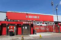 A general view of the main entrance at Brentford FC ahead of their last ever match at Griffin Park during Brentford vs Swansea City, Sky Bet EFL Championship Play-Off Semi-Final 2nd Leg Football at Griffin Park on 29th July 2020