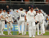 5th July 2021; Emirates Old Trafford, Manchester, Lancashire, England; County Championship Cricket, Lancashire versus Kent, Day 2; Keaton Jennings of Lancashire walks away after he is caught by Zak Crawleyoff the bowling of Matt Quinn