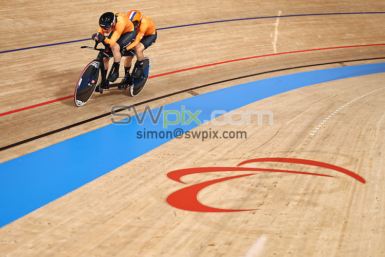 Picture by Alex Whitehead/SWpix.com - Tokyo Paralympics 2020 - 25/08/2021 - Track Cycling - Izu Velodrome, Izu, Japan<br /> - <br /> BANGMA Tristan Pilot: BOS Patrick