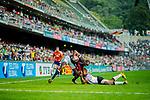 Fiji play Hong Kong on Day 1 of the Cathay Pacific / HSBC Hong Kong Sevens 2013 at Hong Kong Stadium, Hong Kong. Photo by Victor Fraile / The Power of Sport Images