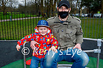 Little Jack Roche having fun with his dad Sean Roche in the Listowel town park on Saturday.
