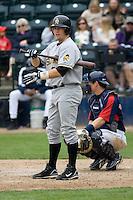 June 1, 2008: Salt Lake Bees' catcher Flint Wipke at-bat against the Tacoma Rainiers at Cheney Stadium in Tacoma, Washington.