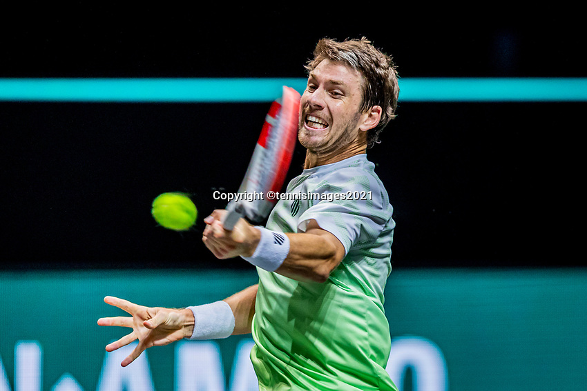 Rotterdam, The Netherlands, 27 Februari 2021, ABNAMRO World Tennis Tournament, Ahoy, Qualyfying match: Cameron Norrie (GBR) <br /> Photo: www.tennisimages.com/henkkoster