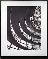 "Framed Size 24""h x 20""w, $675.<br /> Matte Black Nielsen 117 metal frame with non-glare glazing"