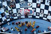 #20: Erik Jones, Joe Gibbs Racing, Toyota Camry Sports Clips celebrates in victory lane