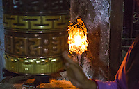 Kathmandu Nepal Boudhanath Stupa prayer wheel at the famous religious temple