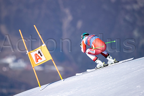 11th November 2020; Obergurgl, Austria; Vincent Kriechmayr of Austria during a free downhill training for the mens OeSV team in Obergurgl, Austria