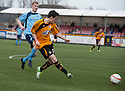 Alloa's Kevin Cawley scores their winning goal.