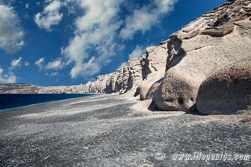 Vlychada in Santorini is like a beach on the moon