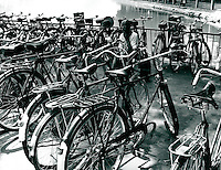 Fahrradstand in Peking, China 1980