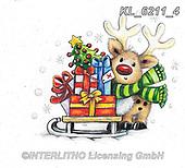 CHRISTMAS ANIMALS, WEIHNACHTEN TIERE, NAVIDAD ANIMALES, paintings+++++,KL6211/4,#xa# ,sticker,stickers