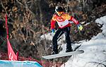 Andrew Genge, PyeongChang 2018 - Para Snowboard // Parasnowboard.<br /> Highlights of Team Canada during a snowboard cross training session // Faits saillants d'Équipe Canada lors d'une session d'entraînement de snowboard cross. 10/03/2018.