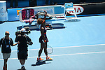 Serena Williams (USA) wins at Australian Open in Melbourne Australia on 19th January 2013