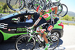 Nazim Bakirci (TUR) Torku Sekerspor back at the team car during Stage 5 of the 2015 Presidential Tour of Turkey running 159.9km from Mugla to Pamukkale. 30th April 2015.<br /> Photo: Tour of Turkey/Mario Stiehl/www.newsfile.ie
