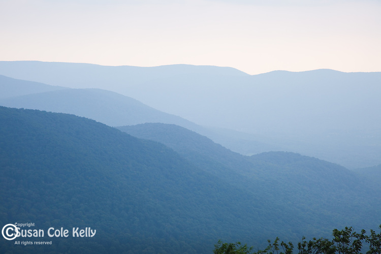 View from Mount Greylock on the Appalachian Trail in Cheshire, the Berkshires, MA, USA