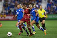Spain's Olga Garcia and Finland's Jennifer Hermoso Maria Pilar Leon during the match of  European Women's Championship 2017 at Leganes, between Spain and Finland. September 20, 2016. (ALTERPHOTOS/Rodrigo Jimenez) NORTEPHOTO
