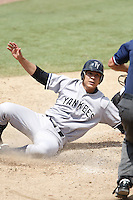 July 12, 2009:  Shortstop Walter Ibarra of the Tampa Yankees during a game at Dunedin Stadium in Dunedin, FL.  Tampa is the Florida State League High-A affiliate of the New York Yankees.  Photo By Mike Janes/Four Seam Images