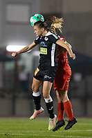Anaelle Wiard (23) of Eendracht Aalst pictured during a female soccer game between FC Femina White Star Woluwe and Eendracht Aalst on the sixth matchday in the 2021 - 2022 season of Belgian Scooore Womens Super League , friday 8 th of october 2021  in Woluwe , Belgium . PHOTO SPORTPIX | KRISTOF DE MOOR