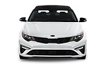 Car photography straight front view of a 2019 KIA Optima SX-Turbo 4 Door Sedan
