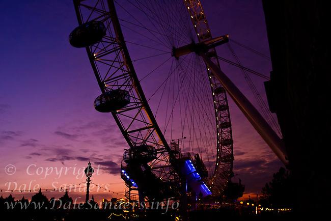 Millenium Wheel at Dusk, London England.