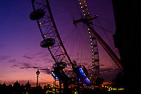 Millenium Wheel at Dusk, London England.