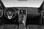 Stock photo of straight dashboard view of 2017 Volvo XC60 R-Design 5 Door SUV Dashboard