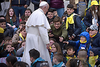 Pope Francis during of a weekly general audience at St Peter's square in Vatican, Wednesday,April 3, 2019